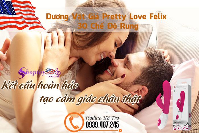 Dương Vật Giả Pretty Love Felix 30 Chế Độ Rung