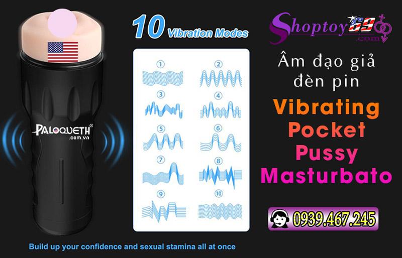 Vibrating Pocket Pussy Masturbator