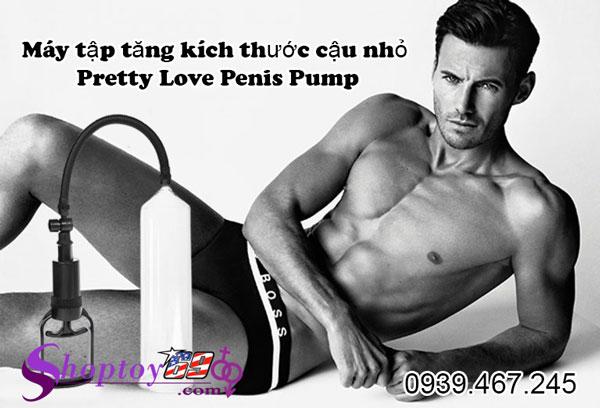 Máy tập tăng kích thước dương vật Pretty Love Penis Pump