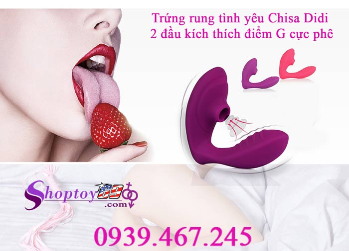 Trứng rung tình yêu Chisa Didi 2 đầu kích thích điểm G cực phê