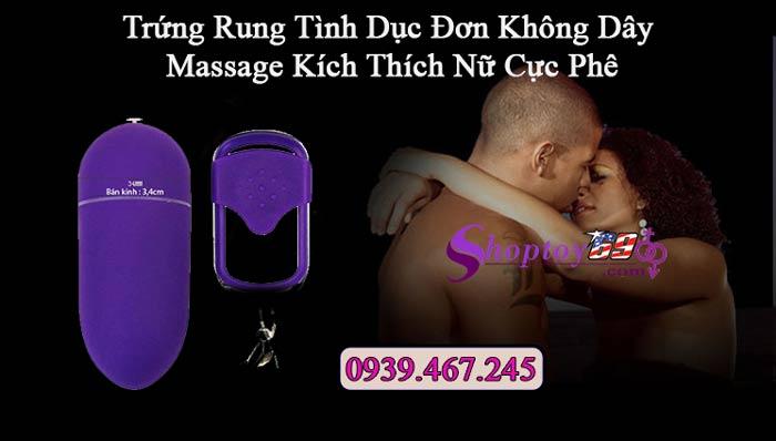 Trứng rung tình dục Đơn Không Dây massage kích thích nữ cực phê