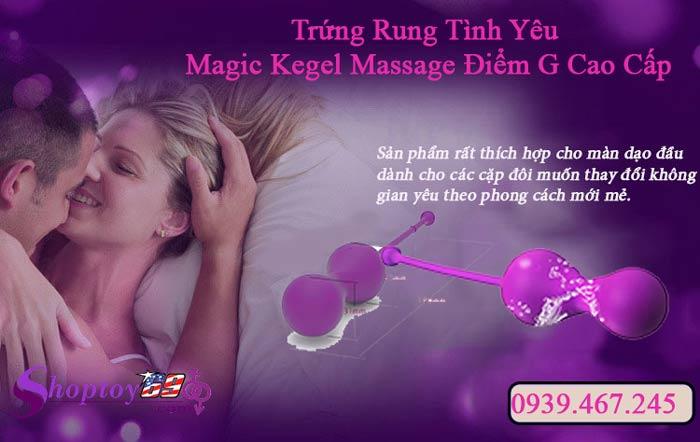 Trứng rung tình yêu Magic Kegel kích thích điểm G qua điện thoại