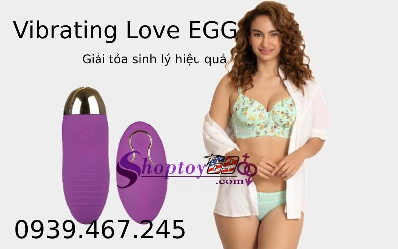 Trứng Rung Tình Yêu Vibrating Love Egg Điều Khiển Từ Xa
