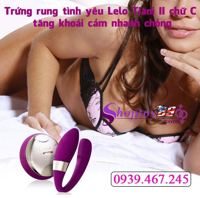 Trứng rung tình yêu Lelo Tiani II chữ C tăng khoái cảm nhanh chóng